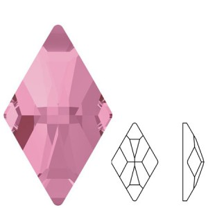Swarovski 2709 Rhombus Light Rose 10x6mm - 2τεμ