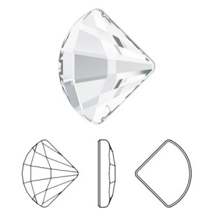 Swarovski 2714 Fan Crystal 10x12mm - 2τεμ