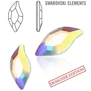 Swarovski 2797 Diamond Leaf Crystal AB 10x5mm - 2τεμ