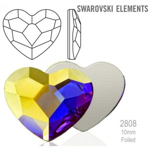 Swarovski 2808 Heart Crystal AB 10mm - 1τεμ
