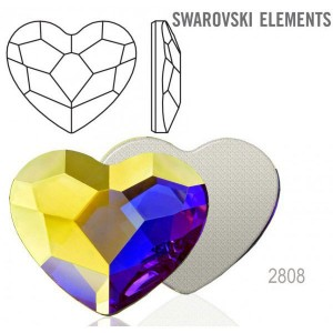 Swarovski 2808 Heart Crystal AB 14mm - 2τεμ