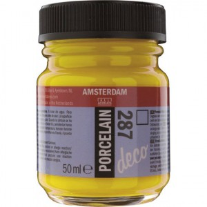 Σμάλτο Πορσελάνης Talens Amsterdam Porcelain - 287 Bright Yellow Transparent - 50ml