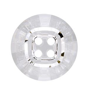 Swarovski 3018 Rivoli Crystal Button (4 holes) Crystal 14mm - 4τεμ