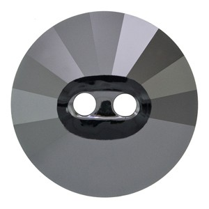 Swarovski 3019 Sew-On 2 Hole Rivoli Button Jet Hematite 14mm - 4τεμ