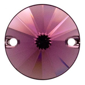 Swarovski 3200 Sew-On Rivoli Amethyst Ø10mm - 4τεμ