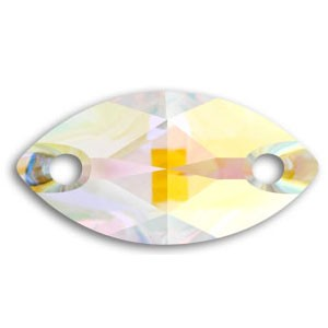Swarovski 3223 Sew-On Marquise Crystal AB 12x6mm - 6τεμ