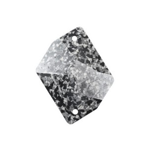 Swarovski 3265 Cosmic Sew-On Marbled Black 20x16mm - 2τεμ