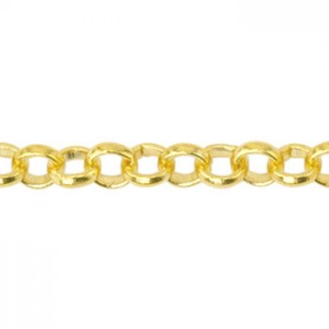Αλυσίδα Beadalon Rolo 3.8mm - Gold Plated - 1m
