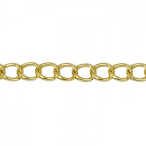 Αλυσίδα Beadalon Medium Curb 4.1mm - Gold Plated - 2m