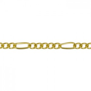 Αλυσίδα Beadalon Figaro 2.2mm - Gold Plated - 2m