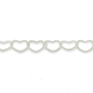 Αλυσίδα Beadalon Heart 4.8mm - Silver Plated - 1m
