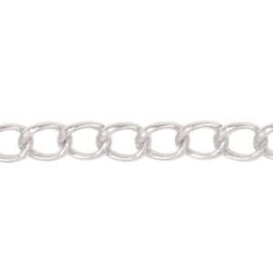 Αλυσίδα Beadalon Curb 4.1mm - Silver Plated - 2m