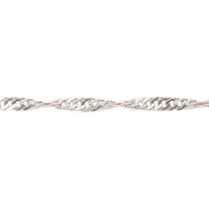 Αλυσίδα Beadalon Curb Twist 1.6mm - Silver Plated - 1m