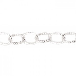 Αλυσίδα Beadalon Oval Link 6.1mm - Silver Plated - 1m