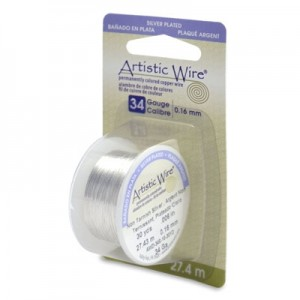 Σύρμα Artistic Wire - Ø0.16mm - Επάργυρο Tarnish Resistant Silver ~27.4m