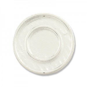 Katiedids Ø25mm Round 2 Holes - Silver Plated - 5τεμ