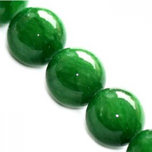 Marble Dyed Round Glassy Green Ø6mm ~65τεμ