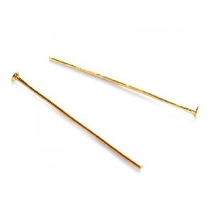 Γράνα Head Pin M.26mm Gold Color ~1000τεμ