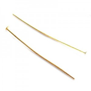 Γράνα Head Pin Gold Color 38mm ~1000τεμ