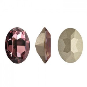 Swarovski 4120 Oval Crystal Antique Pink 14x10mm - 2τεμ