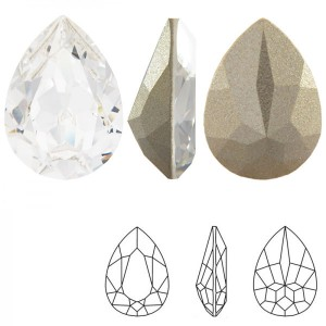 Swarovski 4320 Teardrop Crystal 14x10mm - 2τεμ