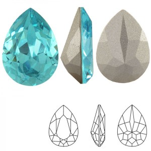 Swarovski 4320 Teardrop Light Turquoise 14x10mm - 2τεμ
