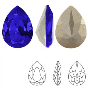 Swarovski 4320 Teardrop Majestic Blue 14x10mm - 2τεμ