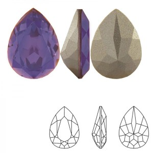 Swarovski 4320 Teardrop Tanzanite 14x10mm - 2τεμ