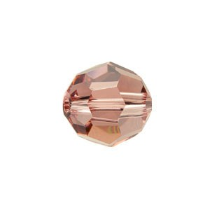 Swarovski 5000 Faceted Round Blush Rose 4mm - 50τεμ