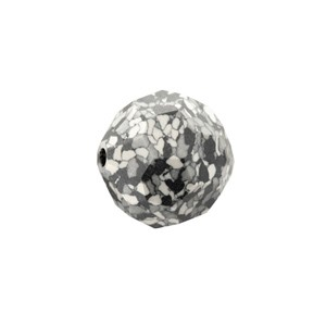 Swarovski 5000 Faceted Round Marbled Black 8mm - 4τεμ