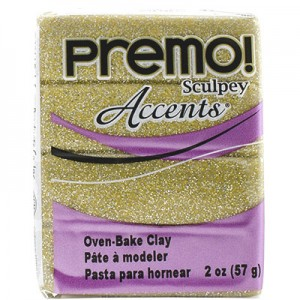 Πολυμερικός Πηλός Premo! Sculpey - 5147 Yellow Gold Glitter - 57gr