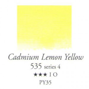 Χρώμα Ακουαρέλας Sennelier Half Pan - 535 Cadmium Lemon Yellow