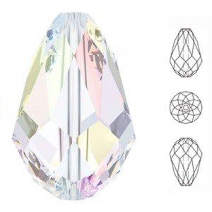 Swarovski 5500 Teardrop Crystal AB 10.5x7mm - 6τεμ