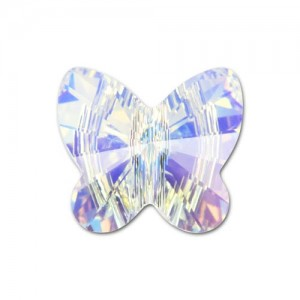 Swarovski® 5754 Butterfly Crystal AB 12mm - 2τεμ