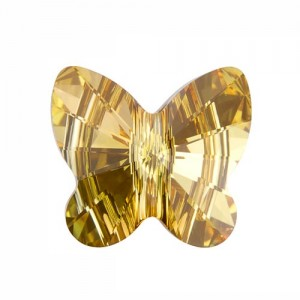 Swarovski 5754 Butterfly Crystal Metallic Sunshine 6mm - 5τεμ