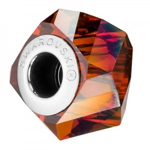 Swarovski 5928 BeCharmed Helix Crystal Red Magma 14x10mm - 1τεμ