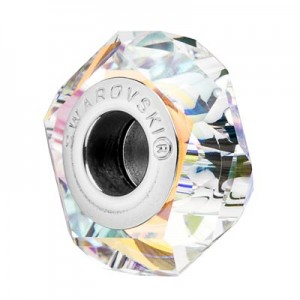 Swarovski 5929 BeCharmed Fortune Crystal AB 14x6.5mm - 1τεμ