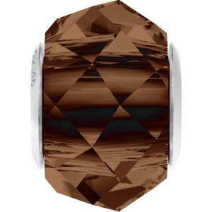 Swarovski 5948 BeCharmed Briolette Smoked Topaz 14x10mm - 1τεμ