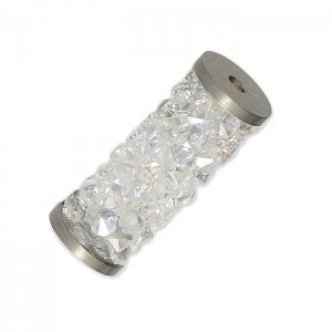 Swarovski 5950 Fine Rocks Tube, Crystal Moonlight, Stainless Steel End - 15mm - 1τεμ