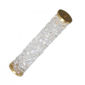 Swarovski 5950 Fine Rocks Tube, Crystal Moonlight, Gold End - 30mm - 1τεμ