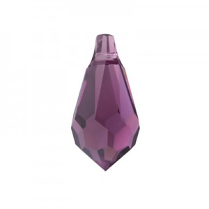 Swarovski 6000 Drop Amethyst 15x7.5mm - 2τεμ