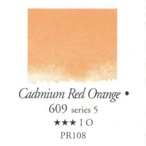 Χρώμα Ακουαρέλας Sennelier Half Pan - 609 Cadmium Red Orange
