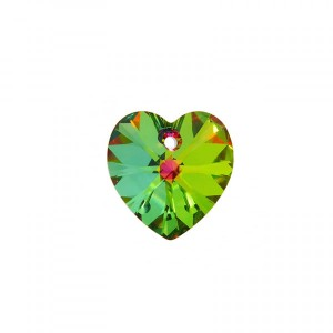 Swarovski Xilion Heart 10.3x10mm Crystal Vitrail Medium 6228 - 6τεμ