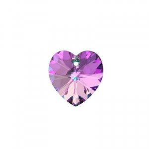 Swarovski Xilion Heart 10.3x10mm Crystal Vitrail Light 6228 - 6τεμ