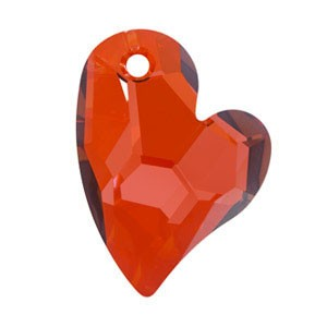 Swarovski 6261 Devoted 2 U Heart Crystal Red Magma 17mm - 1τεμ