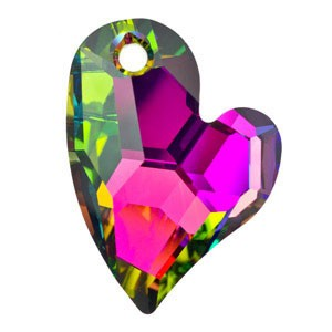 Swarovski 6261 Devoted 2 U Heart Crystal Vitrail Medium 17mm - 1τεμ