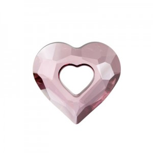 Swarovski 6262 Miss U Heart Crystal Antique Pink 17mm - 1τεμ