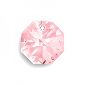 Swarovski 6401 Octagon Light Rose 12mm - 4τεμ