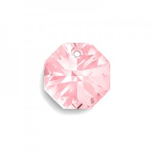 Swarovski 6401 Octagon Light Rose 8mm - 6τεμ