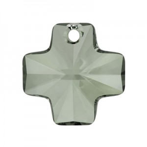 Swarovski 6866 Cross Pendant Black Diamond 20mm - 1τεμ